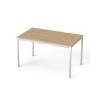 MAYAH Általános asztal fémlábbal, 75x130 cm, MAYAH Freedom SV-38, kõris
