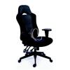 """MAYAH Főnöki szék, fekete/szürke gyöngyszövet-borítás, fekete lábkereszt, MAYAH """"Racer"""""""