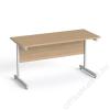 MAYAH Íróasztal, szürke fémlábbal, 140x70 cm, MAYAH Freedom SV-26, kőris (IBXA26K)