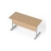 MAYAH Íróasztal, szürke fémlábbal, 140x70 cm, MAYAH Freedom SV-26, kõris