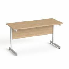 """MAYAH Íróasztal, szürke fémlábbal, 140x70 cm, MAYAH """"Freedom SV-26"""", kőris íróasztal"""