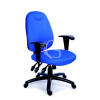 """MAYAH Irodai szék, állítható karfával, exkluzív kék szövetborítás, fekete lábkereszt, MAYAH """"Energetic"""""""