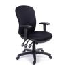 """MAYAH Irodai szék, állítható karfával, fekete gyöngyszövet-borítás, fekete lábkereszt, MAYAH """"Super Comfort"""""""