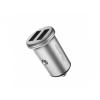 Mcdodo autótöltő két USB porttal Apple iPhone / iPad / iPod - ezüst