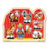Melissa & Doug Fa készségfejlestő játék, Puzzle fogantyúval Farm