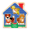 Melissa & Doug Fa készségfejlestő játék, Puzzle fogantyúval, kis kedvencek