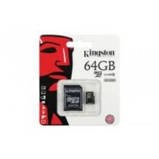 Memória kártya, Kingston 64GB microSDHC Class 10, SD adapterrel (artisjus matricával ellátva) memóriakártya