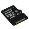 Memóriakártya, microSDHC, 64GB, Class 10, Kingston