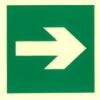 Menekülési útvonal tábla - nyíl