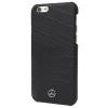 Mercedes-Benz Mercedes-Benz iPhone 6/6S Organic IV Genuine Leather Hard hátlap, tok, fekete