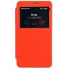 Mercury Goospery Mercury Easy View Samsung N9000 Galaxy Note 3 oldalra nyitható ablakos tok narancs