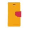 Mercury Goospery Mercury Fancy Diary Apple iPhone 5G/5S/5SE kinyitható tok sárga-sötétpink