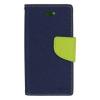 Mercury Goospery Mercury Fancy Diary Samsung N910 Galaxy Note 4 kinyitható tok sötétkék-lime
