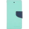 Mercury Goospery Mercury Fancy Diary Sony E6533 Xperia Z4 kinyitható tok menta-kék