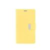Mercury Goospery Mercury Rich Diary LG D855 G3 kinyitható tok sárga-sötétpink