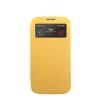 Mercury Goospery Mercury Wow Bumper Samsung N910 Galaxy Note 4 ablakos kinyitható tok sárga