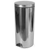 MERIDA Clean fém szemetes kosár, 30 l térfogat, fényes rozsdamentes acél