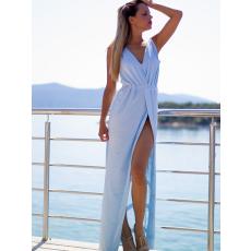 Meringue fashion AKCIÓ babakék oceán maxi nõi ruha