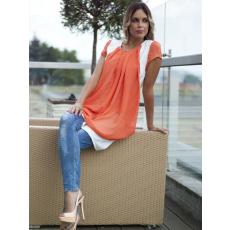 Meringue fashion AKCIÓ narancs muszlin tunika ruha
