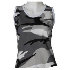 MFH női álcás ujjatlan trikó, minta metro