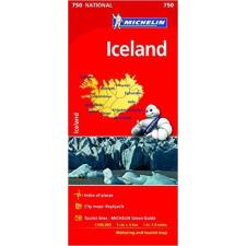 MICHELIN 750. Iceland térkép, Izland térkép Michelin 1:500 000 térkép
