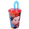 Mickey Szívószálas pohár Disney Mickey 430 ml