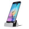 Micro USB-s asztali töltõ-Ezüst