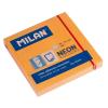 MILAN Öntapadó jegyzettömb MILAN, 75x75 mm, 80 lapos, neon narancs színű