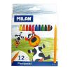 MILAN színes pasztellkréta - háromszögű - 12 db