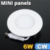 Mini kör LED panel (120 mm) 6 Watt hideg fehér