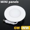 Mini kör LED panel (120 mm) 6 Watt meleg fehér