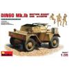 MiniArt DINGO Mk.1b BRITISH SCOUT CAR w_CREW katonai jármű makett Miniart 35067