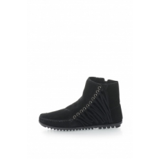 Minnetonka , Willow Nyersbőr Rövid Csizma, Fekete, 39 (669-WILLOWBOOT-BLACK-39)