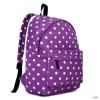 Miss Lulu London E1401D2 - Miss Lulu nagyméretű hátizsák táska Polka Dot lila