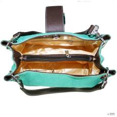 Miss Lulu London E1404 - Miss Lulu Suede dupla szíj kézi táska türkiz
