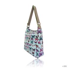 Miss Lulu London L1104B - Miss Lulu szögletes táska pillangó világos kék