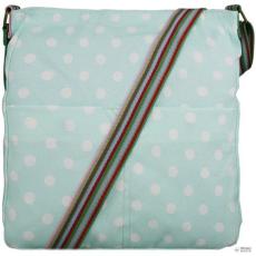 Miss Lulu London L1104D2 - Miss Lulu szögletes táska Polka Dot világos kék