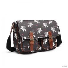 0eb07a2284c3 Miss Lulu London L1107 UN - Miss Lulu matt vászon Unicorn táska - fekete