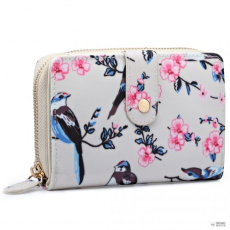 Miss Lulu London L1580-16J - Miss Lulu kicsi Oilcloth pénztárca Flower Bird Print