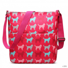 Miss Lulu London LC1644NDG - Miss Lulu Regularmattte Oilcloth szögletes táska Dog Plum