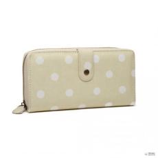 Miss Lulu London LP6801D2-Miss Lulu oilcloth polke dot pénztárca