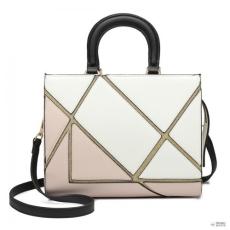 Miss Lulu London LT1860-MISS LULU szín jegyzetfüzetK kézi táska válltáska táska fehér/NUDE