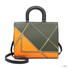 Miss Lulu London LT1860-MISS LULU szín jegyzetfüzetK kézi táska válltáska táska zöld/narancs