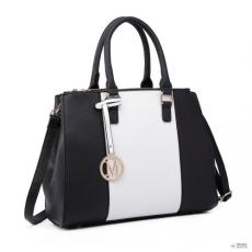 Miss Lulu London LT6633 - Miss Lulu Sutton Centre csíkos válltáska táska fekete