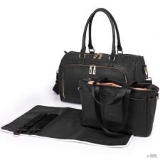 Miss Lulu London LT6638 - Miss Lulu pelenkázó Changing válltáska táska fekete kézitáska és bőrönd
