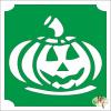 Mk Kreatív Stúdió 5x5 cm-es Csillám tetoválás sablon - Halloween tök 295