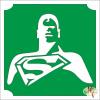 Mk Kreatív Stúdió 5x5 cm-es Csillámtetoválás sablon - Superman 211