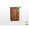 Möbelstar 3 ajtós pácolt szekrény, válaszfalas 195x55 cm