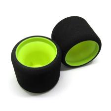 MobGums Mechové zadní gumy, 1/12, žluté disky, (WHITE) rc modell kiegészítő
