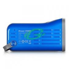Momax kék színű iPower USB 2x lámpa funkcióval (6000 mAh) mobiltelefon akkumulátor